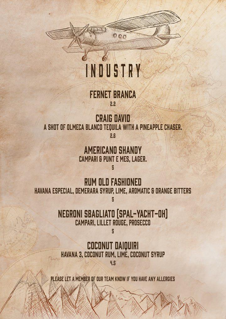 Industry-Menu